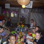 Mojo, guests and volunteers at the first Thanksgiving at Hedonisia