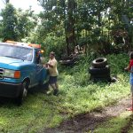 Removing a full size pickup truck from our Hawaiian rainforest property