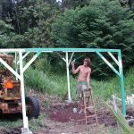 Construction on our jungle accommodation