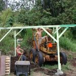 Antique sugar mill equipment on our rainforest property