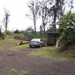 Tipi Toilet Bamboo Hut View
