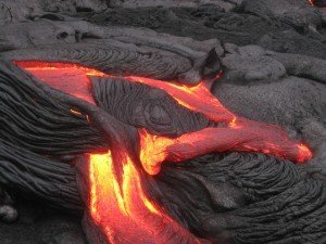 Lava Beauty! Photo from a 2013 flow in Kalapana