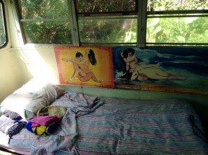 Romantic Mural on Aloha Bus