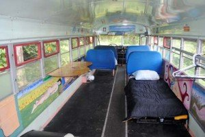 Single Bed in Aloha Bus