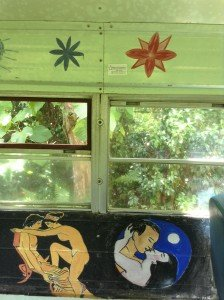 Aloha Love Bus Interior Art Paintings!