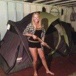 Fiona with BB Gun. Empowered Intern!