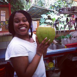 Coconut juice in Puna