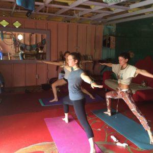 Yoga session in Puna, Hawaii