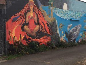 Mural of Pele - Volcano Goddess, Pahoa HI