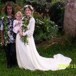 The wedding family in their first year on the property!