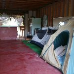 In our first years, Hedonisians camped in the Yoga Barn!