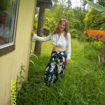 Leah outside Jungle Cottage on Hedonisia's rainforest crater