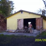 This is the way our barn looked before it had a mural on the side