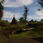 Teepee Toilet Landscape