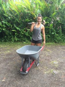 2017 Intern Katie on Wheel Barrow Body Work!